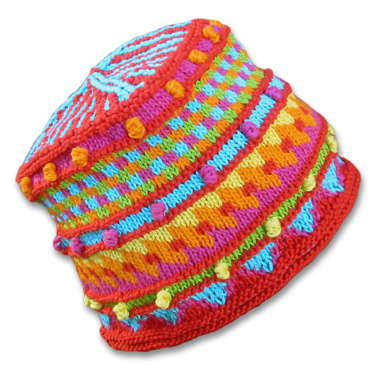 KnitWhits - Knitting Patterns and Kits - Herbie Fire Fair Isle Hat
