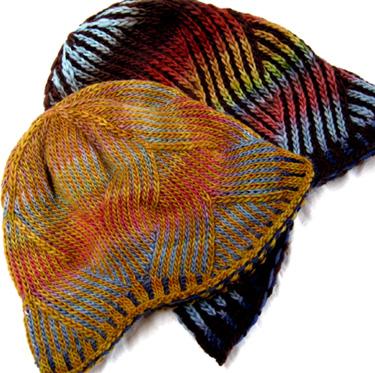 39c3bde50e6 Knitting Patterns and Kits - Nepali Striped Wavy Fair Isle Hat by Knitwhits