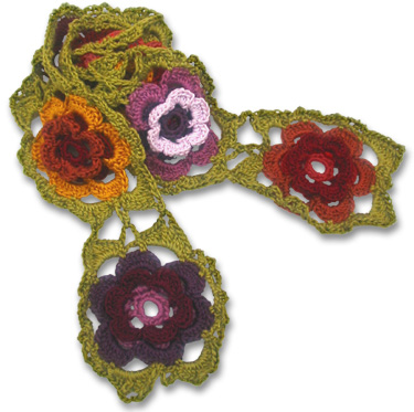 applehead: 100 flower scarf pattern