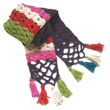 Double-Ended Crochet Hook Scarf Pattern - Crochet Patterns , Knit