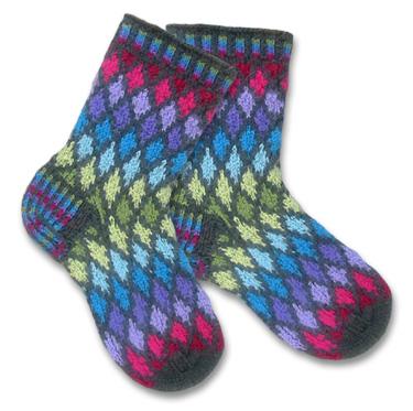 KnitWhits - Knitting Patterns and Kits - Jewel Fair Isle Socks