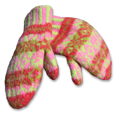 123Crochet Patterns: Felted Mittens