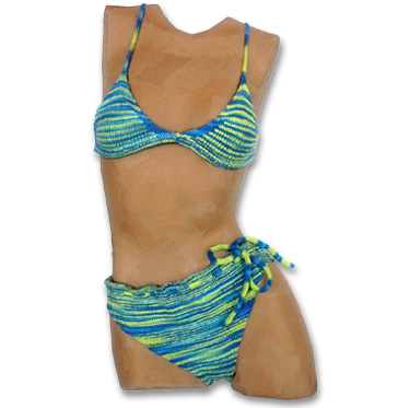 Free Knit Bikini Pattern : KnitWhits - Knitting Patterns and Kits - Moray Cotton Knit Bikini